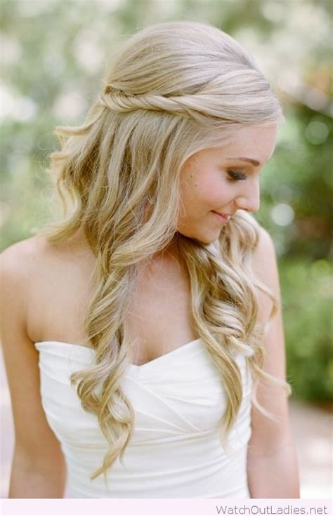 wedding hair half up half curls pretty hair half updos with curls out