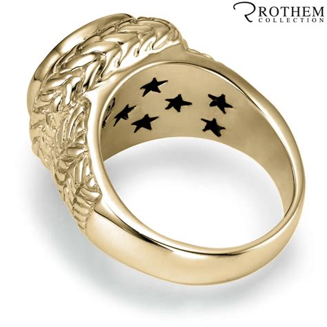 mens real solid 14k yellow gold 3 ct black ring ebay