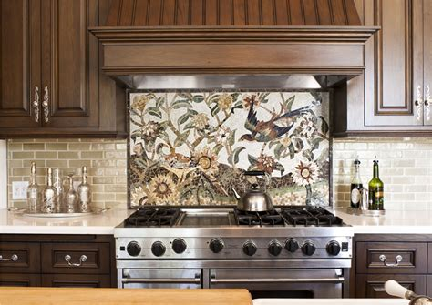 mosaic backsplash subway tile backsplash ideas kitchen traditional with