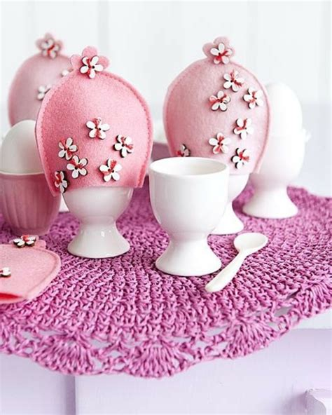 pink badezimmerideen osterdeko in rosa und lila aequivalere