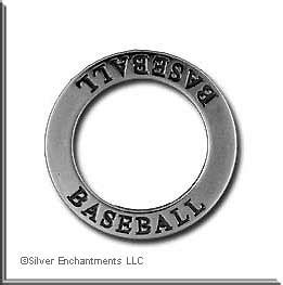 sterling silver baseball affirmation ring necklace charm