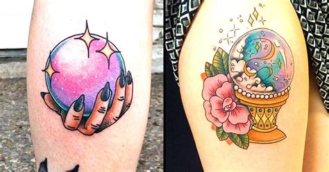 crystal ball tattoo look into your future with tattoos tattoodo