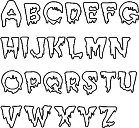 printable scary fonts 9 best images of printable scary letters scary alphabet