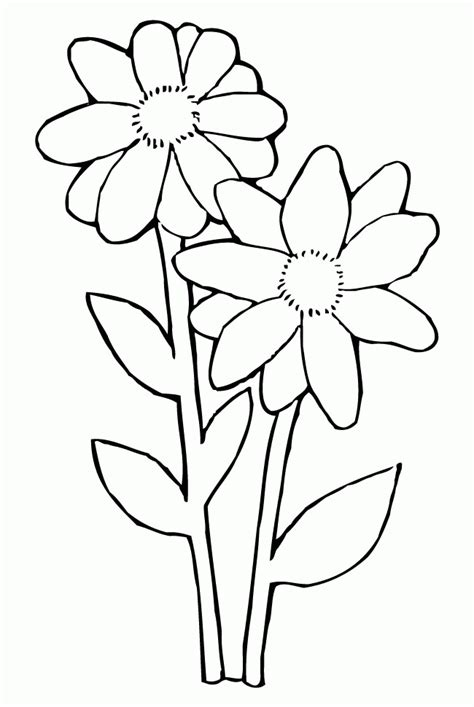 free daisy coloring pages sketch coloring page