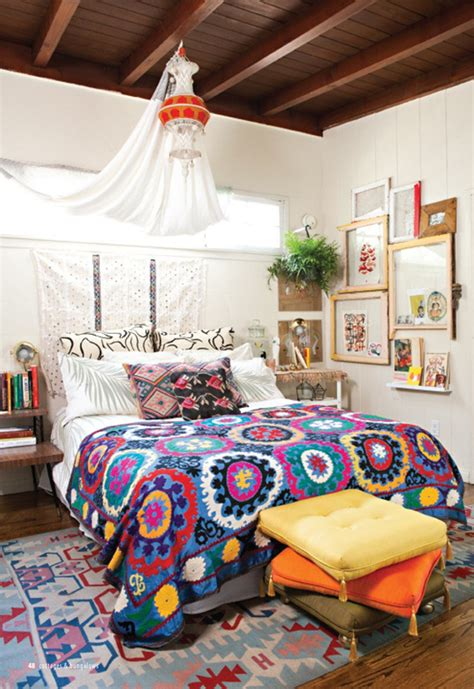 bohemian style bedrooms small bohemian bedroom design