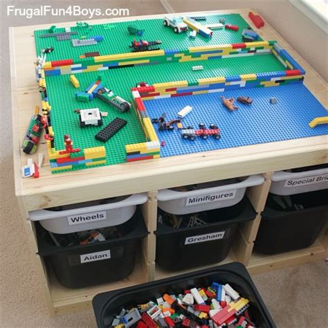 ikea lego table hack ikea hack lego table frugal fun for boys and girls