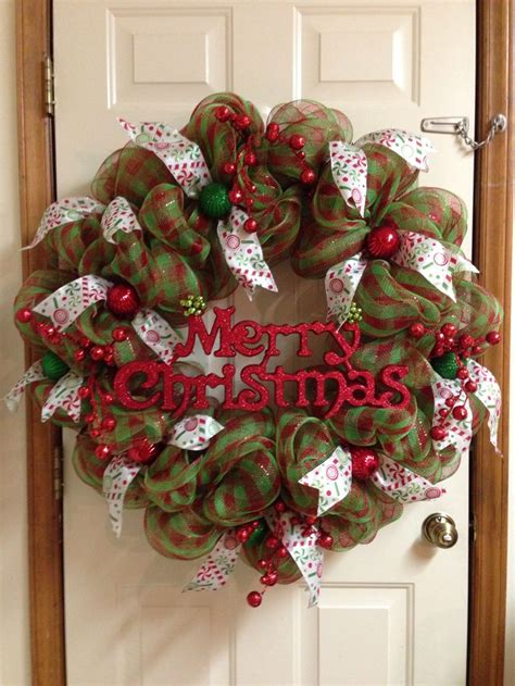 deco mesh christmas wreath craft ideas diy pinterest