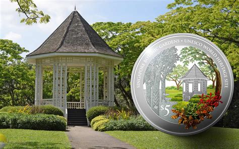 silver coin marks the singapore botanical gardens new