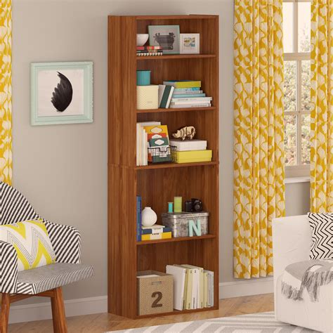 kmart 5 shelf bookcase good to go 5 shelf bookcase alder shop your way online