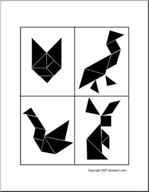 printable animal tangrams 14 best images about tangram on pinterest free printable