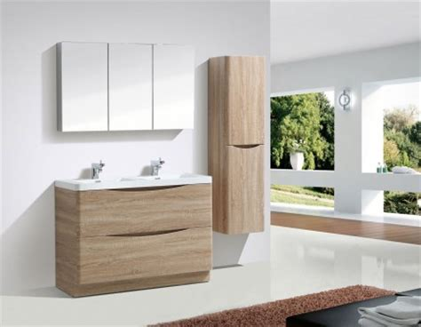 Light Oak Bathroom Furniture Cubico Uk