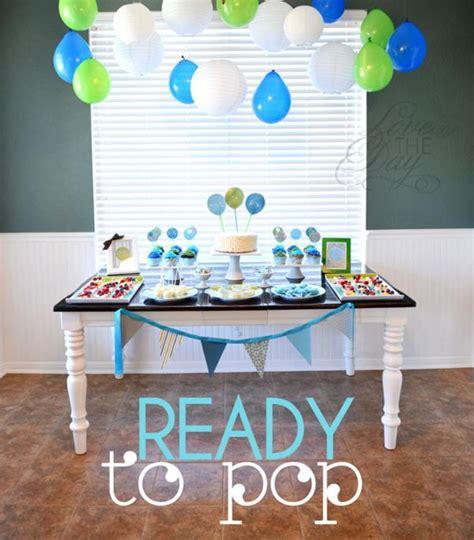 Ready To Pop Baby Shower Ideas by Kara S Ideas Quot Ready To Pop Quot Blue Green Baby Shower