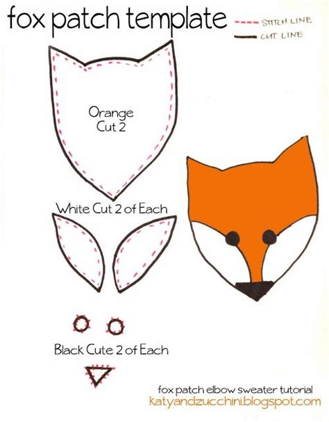 patch template free fox patch template crafts