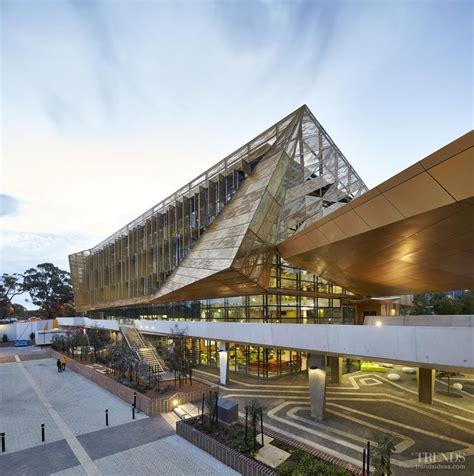 designers architects modern university cus with student building in gold
