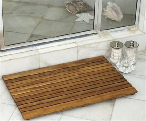 bathroom shower mat bathroom and shower teak wood mats tropical