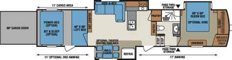 5th wheel hauler floor plans venom luxury fifth wheel hauler floorplans photos