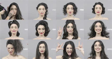 100 years of changing beauty makeup and hairstyles in 1