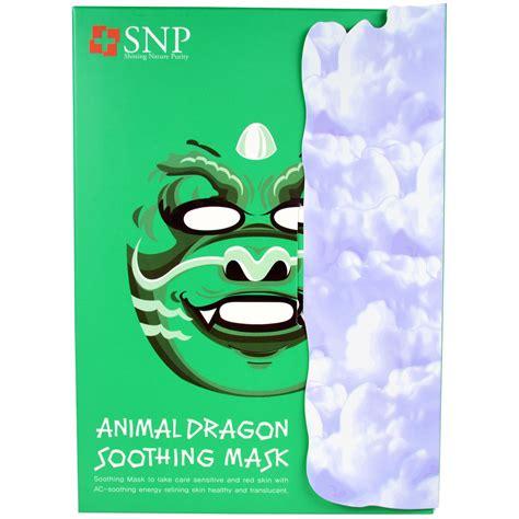Snp Animal Mask Masker Animal Animal Mask 7 snp animal soothing mask 10 masks x 25 ml each iherb