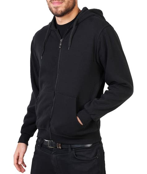 Zipper Plain Hoodie plain hooded zipper hoodie crew neck sweat shirt top