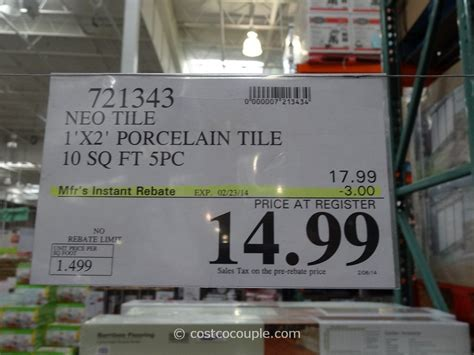 neo tile light grey neo tile urban groove light grey porcelain tile costco 1