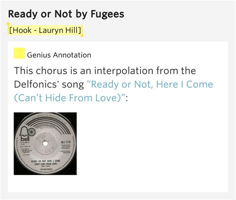 Hookups Or Not by Hook Lauryn Hill Ready Or Not By Fugees