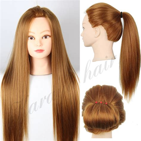 Real Hair Mannequin Heads by Aliexpress Buy 22 Hair Mannequins