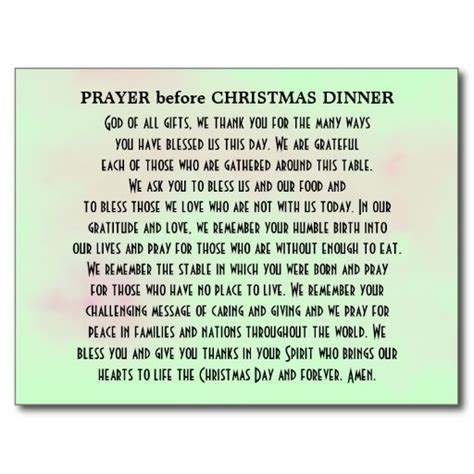 christmas prayer said at dinner prayer before christmas