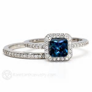 blue topaz engagement ring blue topaz engagement ring wedding band by rareearth