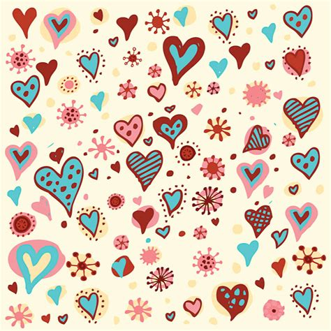 pattern heart vector seamless vector graphics blog page 4
