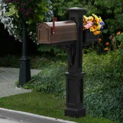 westbrook fancy mailbox planter post 5830 by mayne