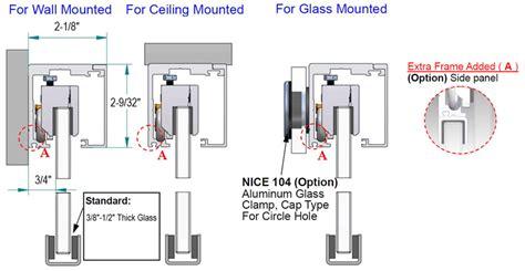 Glass Door Track Systems Glass Door Track Systems Crl 90v Series Top Hung Single Track Sliding Door System For 1 2 Quot