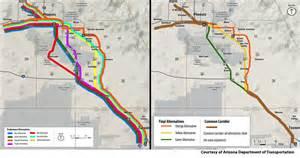 arizona railroad map adot finalizes three proposed routes for tucson