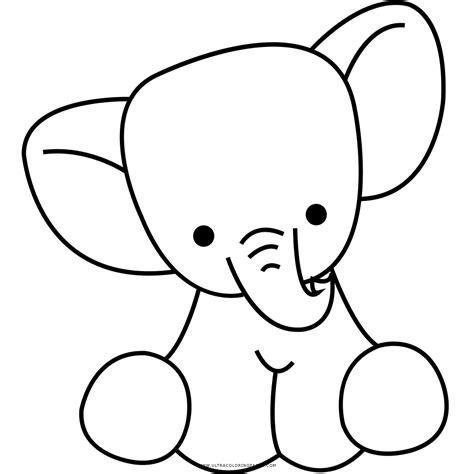 imagenes de elefantes faciles para dibujar elefante desenho para colorir ultra coloring pages