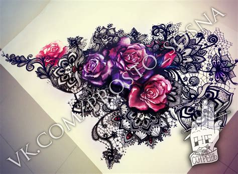 lace flower tattoo flower lace lace lace