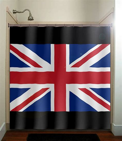 union jack bedroom curtains united kingdom uk union jack england flag shower curtain