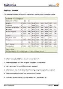 timetables worksheets davezan