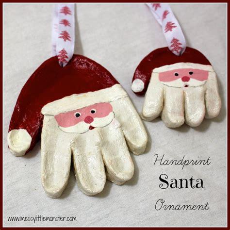 salt dough crafts salt dough ornaments santa handprints crafts