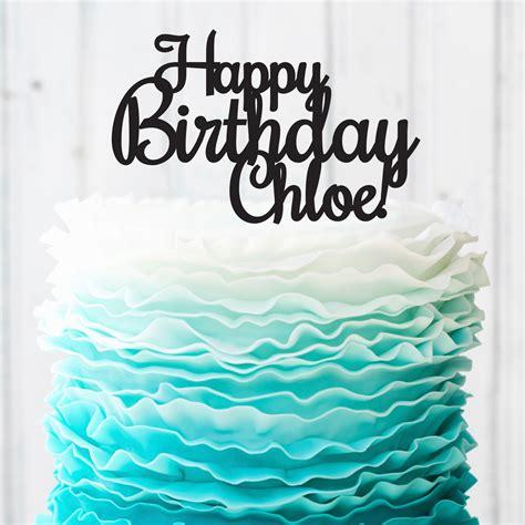 Custom Birthday Cake Topper   Personalized Happy Birthday