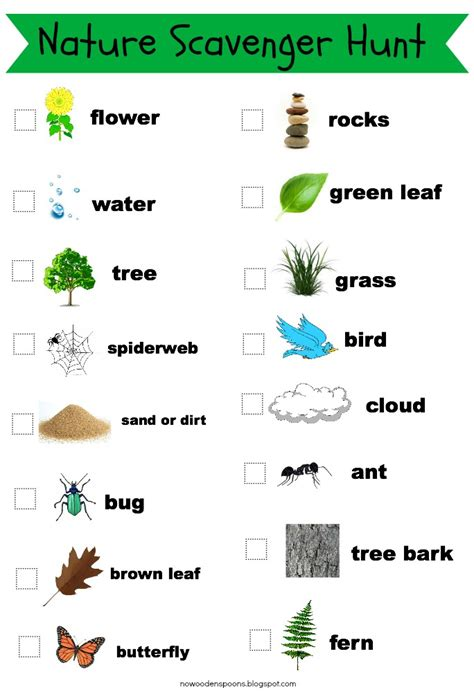 backyard scavenger hunt list no wooden spoons photo scavenger hunt for kids free