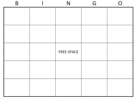Free Blank Card Template To Print by Bingo Card Template Beepmunk