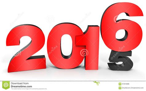 new year 2016 white background 3d happy new year 2016 text stock illustration image