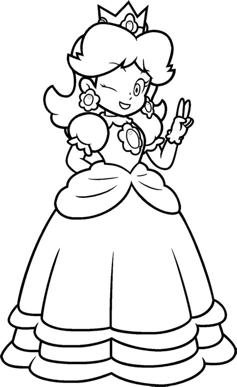 coloring pages of daisy from mario daisy coloring by blistinaorgin on deviantart