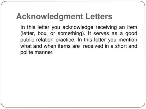 Acknowledgement Letter Received Items Writing Letters By Ganta Kishore Kumar