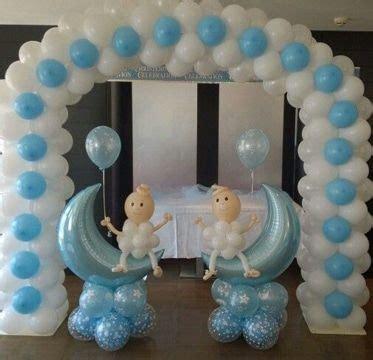 sencilla decoracion de globos para bautizo de ni 241 o bautizo baby shower balloons baby shower
