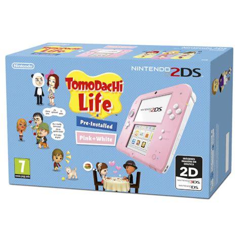 nintendo ds 2 console nintendo 2ds pink white tomodachi nintendo