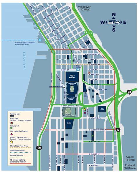 seattle city light locations centurylink field parking guide deals tips maps spg
