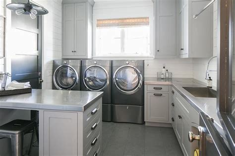 grey laundry light gray laundry room cabinets with stainless steel