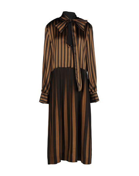 Fendi Dress lyst fendi 3 4 length dress in brown