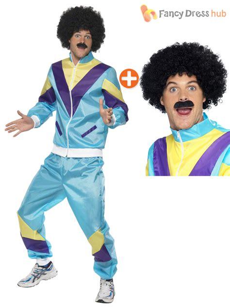 90s fancy dress costumes men retro funny 80s 90s shell suit tracksuit shellsuit mens