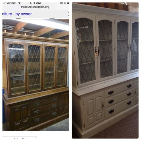 painted china cabinet before and after before and after chalk painted ethan allen china cabinet